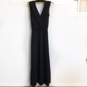 Ella moss black maxi dress with slip size M